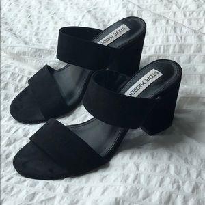 Steve Madden Black Sandal Heals